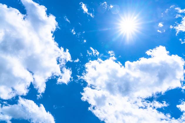 紫外線の強い日差し