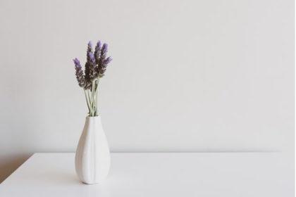 花瓶のラベンダー